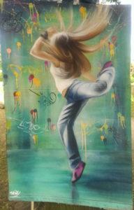 Graffiti LeinwandTänzerin