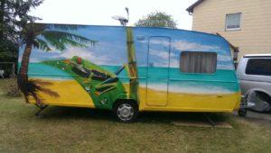 Graffitiauftrag Wohnwagen 1