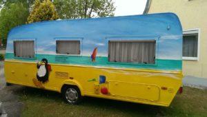 Graffitiauftrag Wohnwagen 2