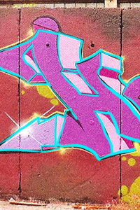 Graffiti Style Outline