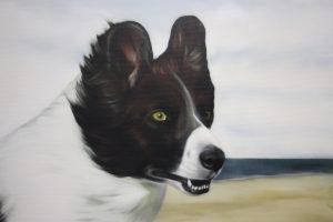 Trixie Graffiti Auftrag Tarp Flensburg Hund Portrait