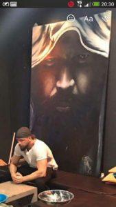 Graffiti Leinwand Kollegah
