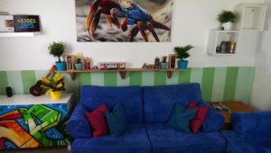 Graffitistil Wohnzimmer