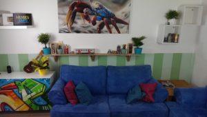 Wohnzimmer Graffitistyle