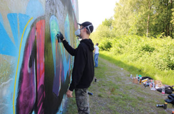 Graffitiworkshop Fortgeschrittene Hall 1