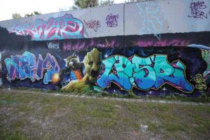 Graffitiworkshop Fortgeschrittene Hall Ergebnis