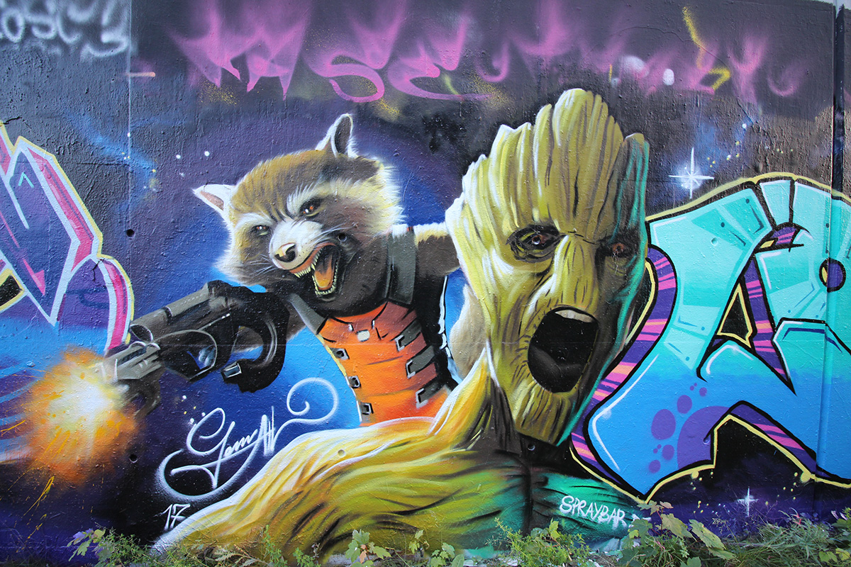 Graffitiworkshop Fortgeschrittene Hall Rocket Groot