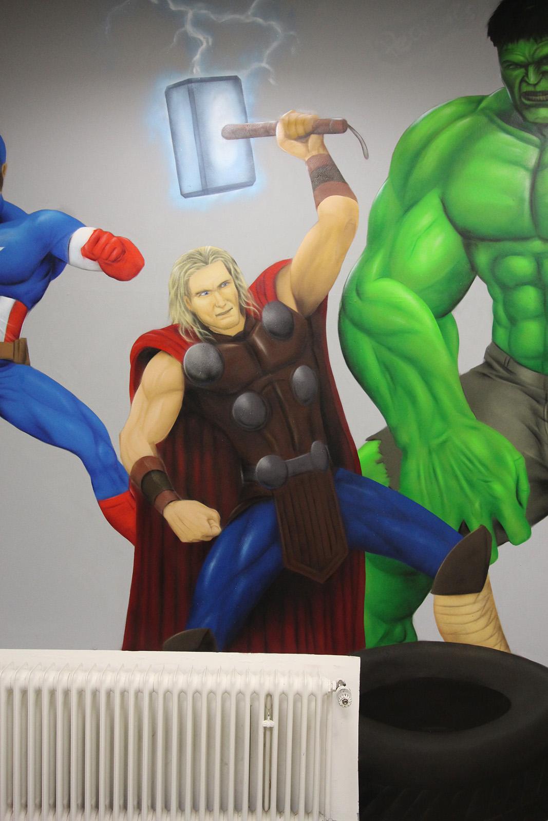 Graffitiauftrag Hyper Gym Thor