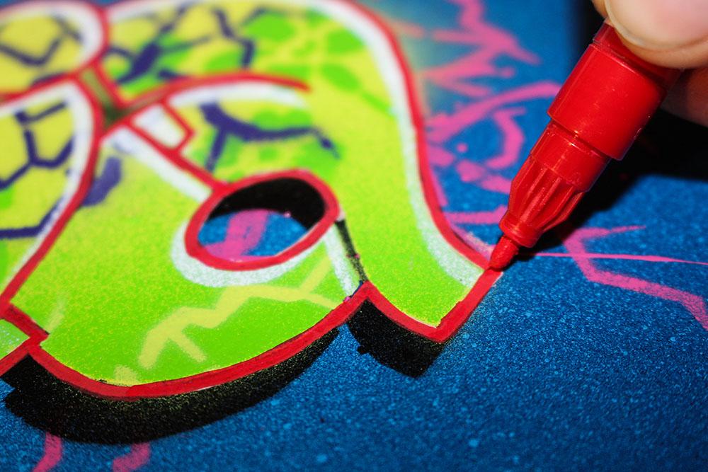 stencil graffiti anleitung 14 outlines