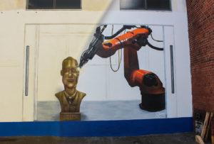 Fassadengraffiti Firma Roboterarm
