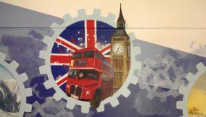 Wandmalerei Graffiti London FH Wedel